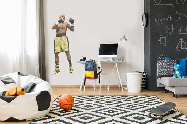 Floyd Mayweather lifesize wall sticker