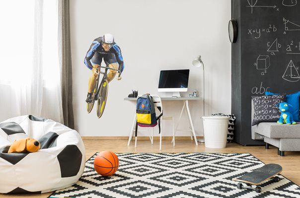 Sir Chris Hoy Sky lifesize wall sticker