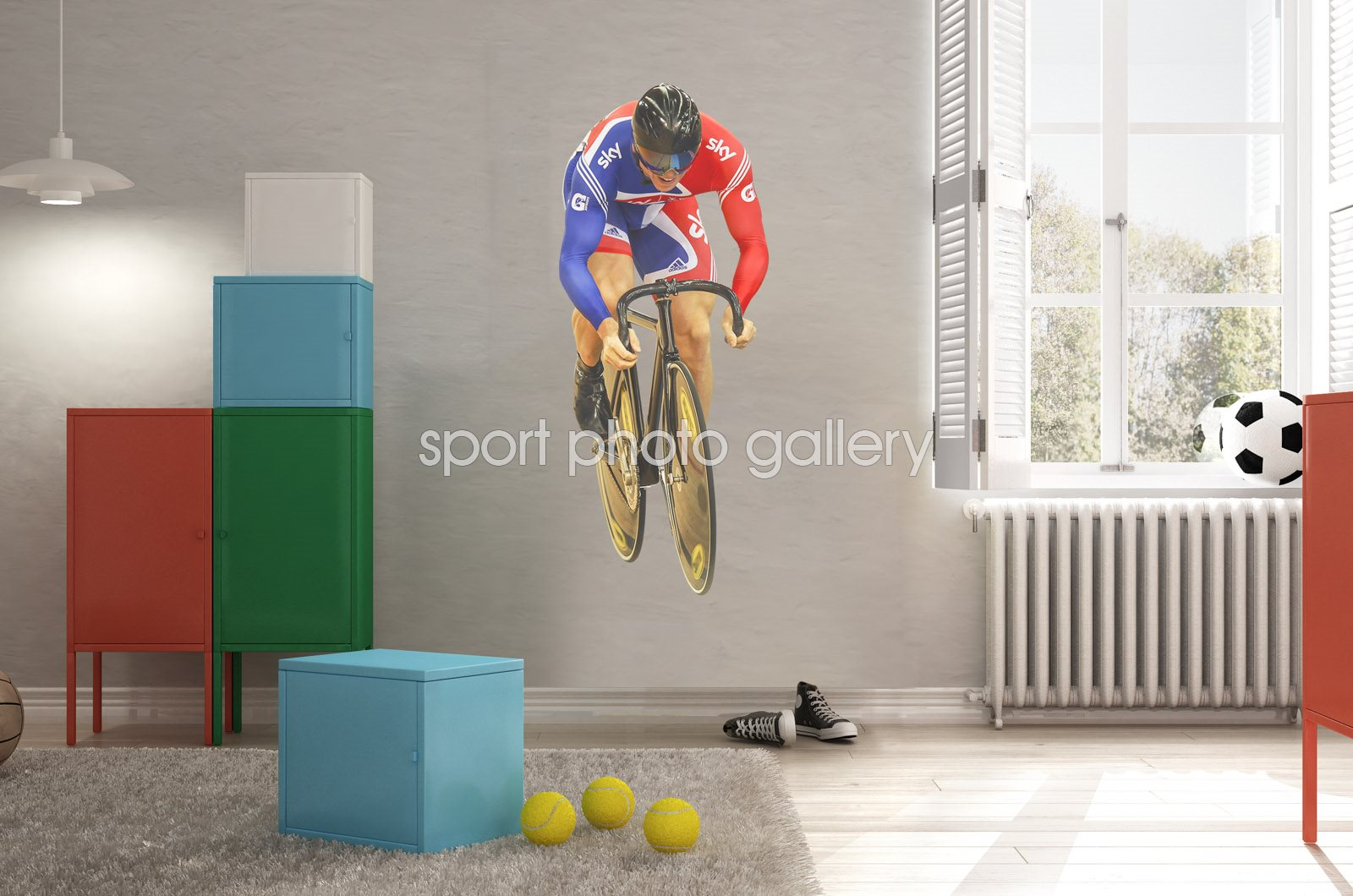 Sir Chris Hoy Great Britain lifesize wall sticker