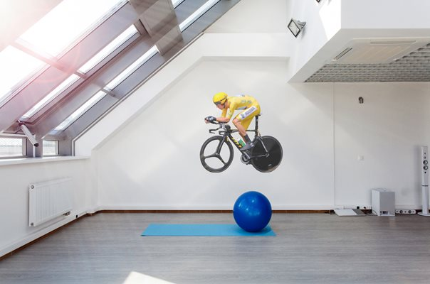 Sir Bradley Wiggins lifesize wall sticker