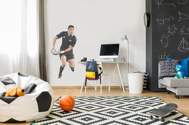 Dan Carter New Zealand lifesize wall sticker