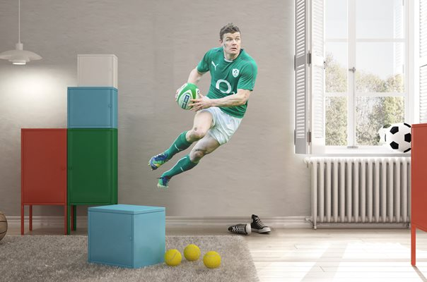 Brian O'Driscoll Ireland Lifesize Wall Sticker