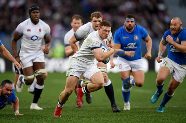 Sam Simmonds England v Italy Rome Six Nations 2018