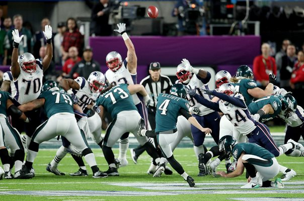 Jake Elliott Philadelphia Eagles v New England Patriots Super Bowl 2018