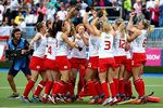England celebrate Commonwealth Games Hockey 2014 Prints