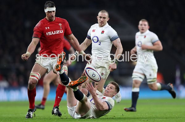 Owen Farrell England v Wales Twickenham Six Nations 2018