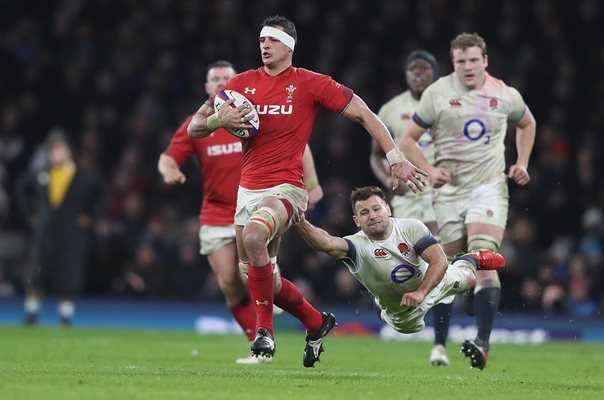 Aaron Shingler Wales v England Twickenham Six Nations 2018
