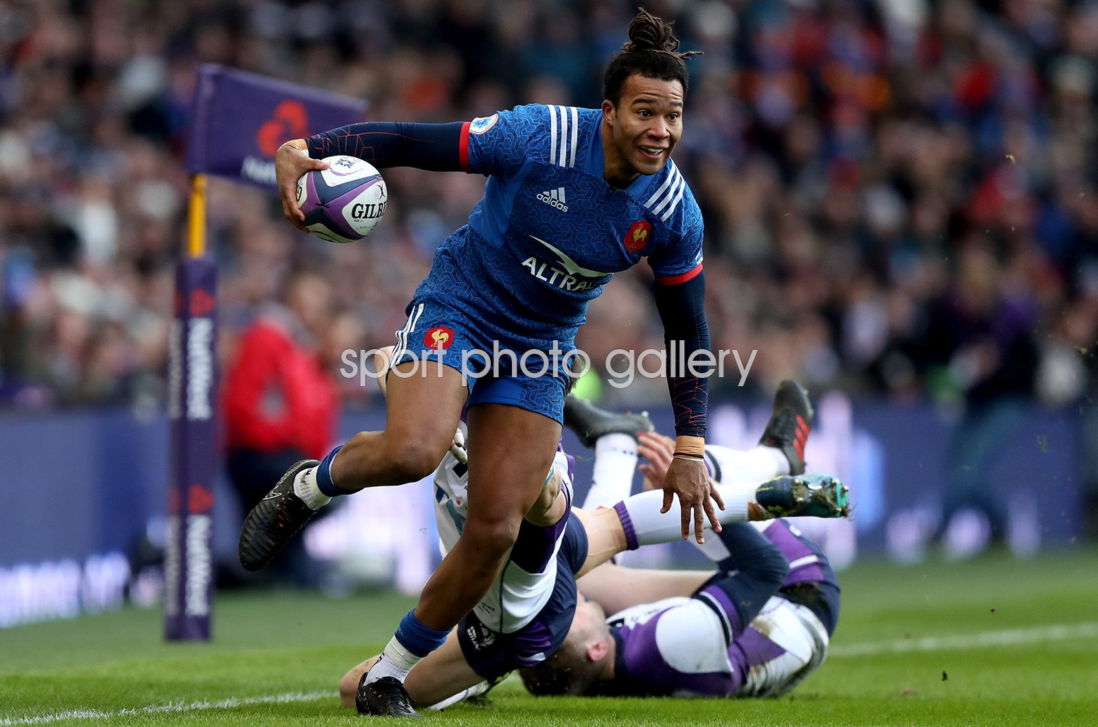 Teddy Thomas France v Scotland Murrayfield Six Nations 2018