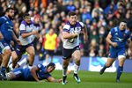 Huw Jones Scotland scores v France Murrayfield Six Nations 2018 Prints