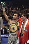 Naseem Hamed celebrates v Manuel Calvo London 2002 Prints