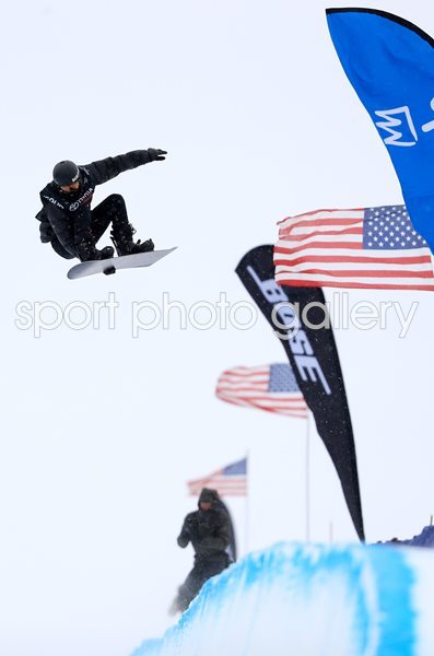 Shaun White USA Halfpipe Snowboard Grand Prix California 2017