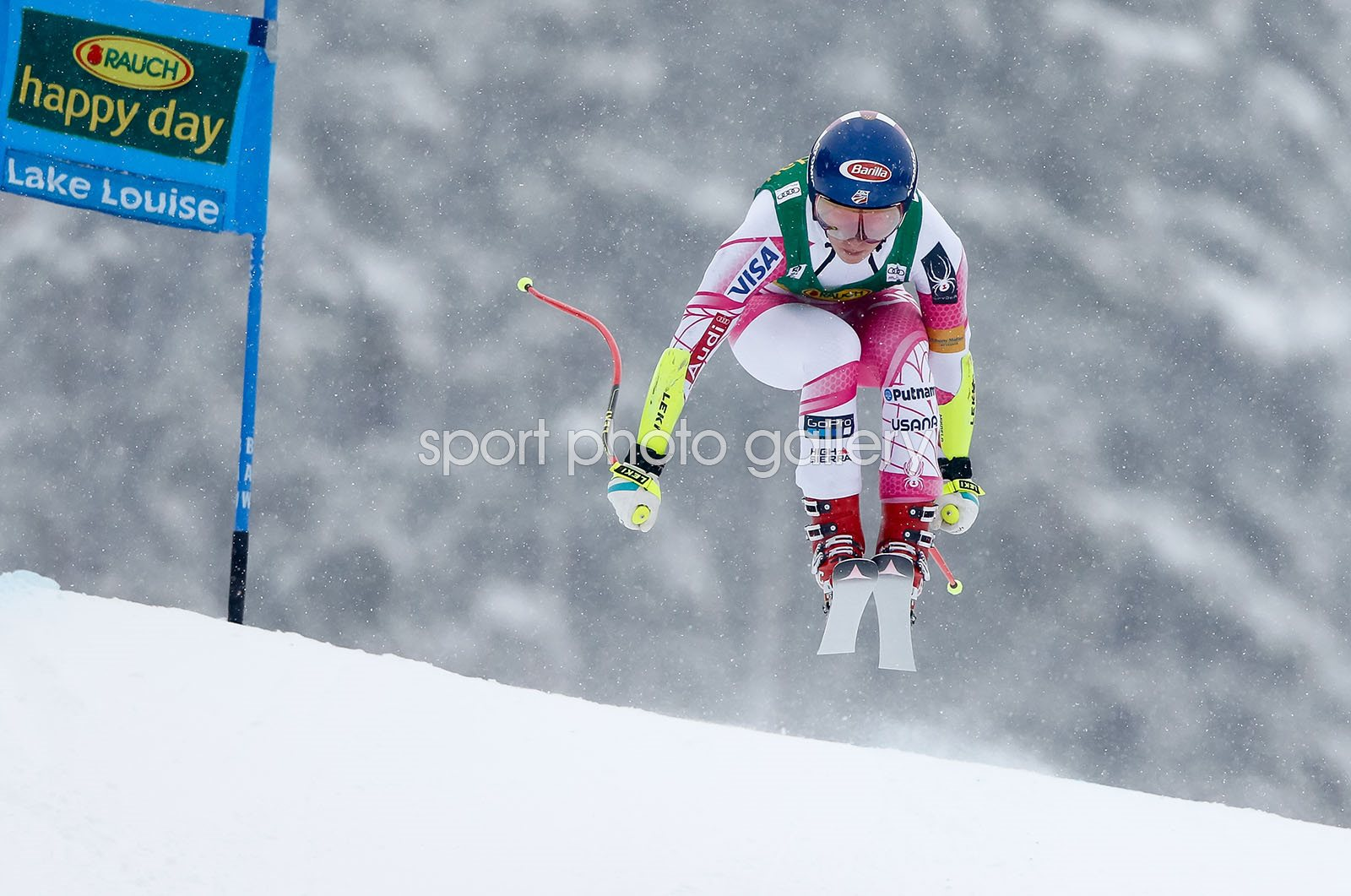 Mikaela Shiffrin USA Alpine Ski World Cup Super G Slalom Lake Loiuse 2016