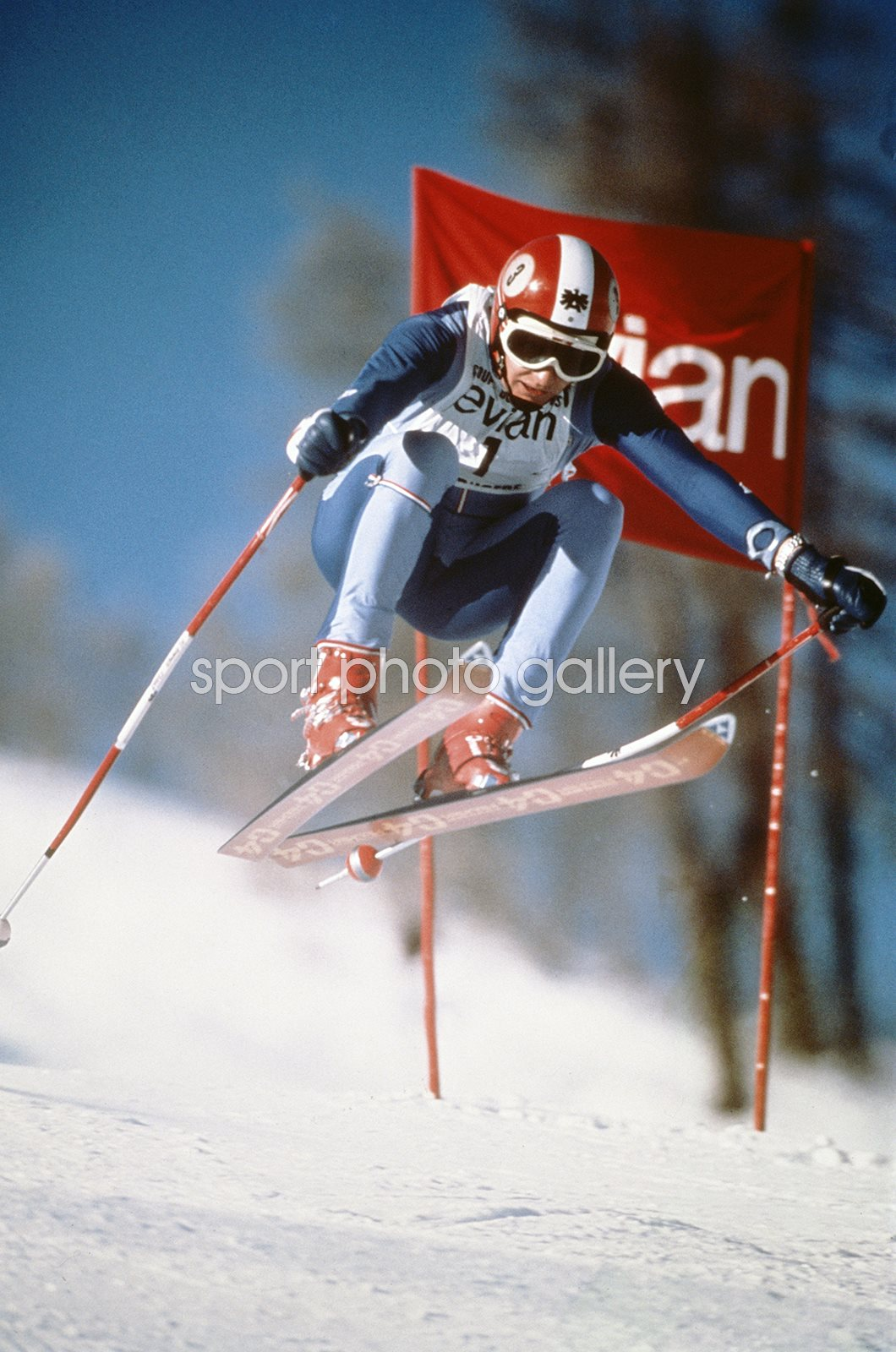 Franz Klammer Austria Alpine Skiing World Cup France 1977