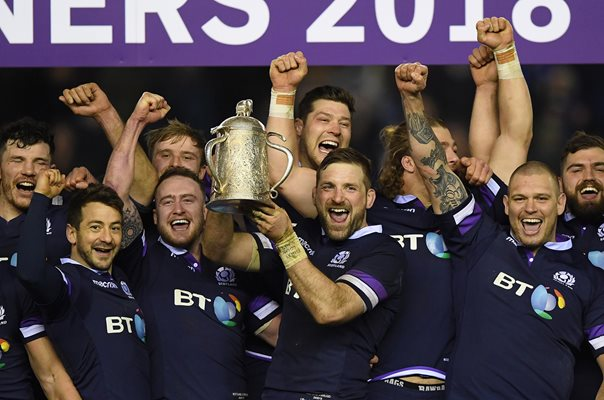 John Barclay Scotland Calcutta Cup Winners Murrayfield 2018