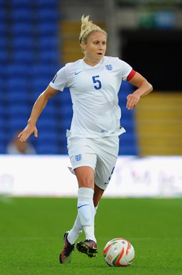 Steph Houghton Wales v England FIFA Women's World Cup Qualifier