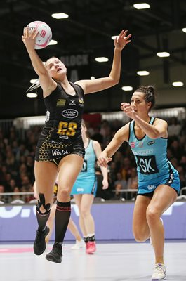 George Fisher Jo Trip Wasps Netball v Surrey Storm Netball Superleague
