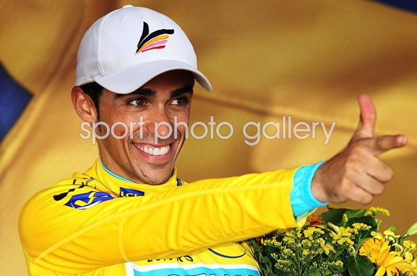 Alberto Contador Spain Yellow Jersey Tour de France 2010