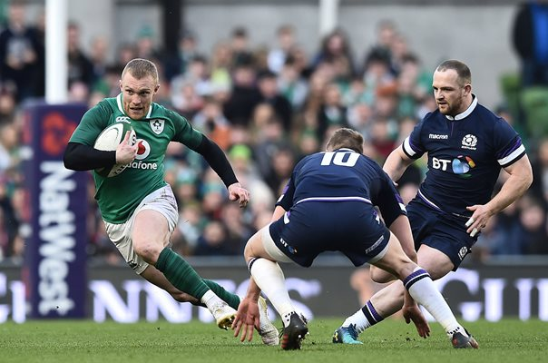 Keith Earls Ireland v Scotland Dublin 6 Nations 2018
