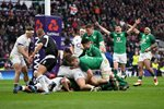 CJ Stander Ireland scores v England 6 Nations Twickenham 2018 Prints