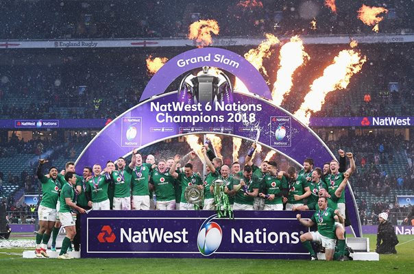 Ireland Six Nations Grand Slam Winners Twickenham 2018