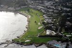 18th Hole Pebble Beach Golf Course Aerial View Prints