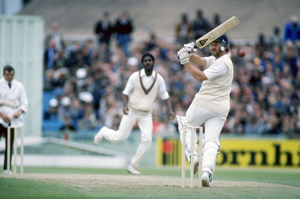 Ian Botham England v Michael Holding West Indies Old Trafford 1980