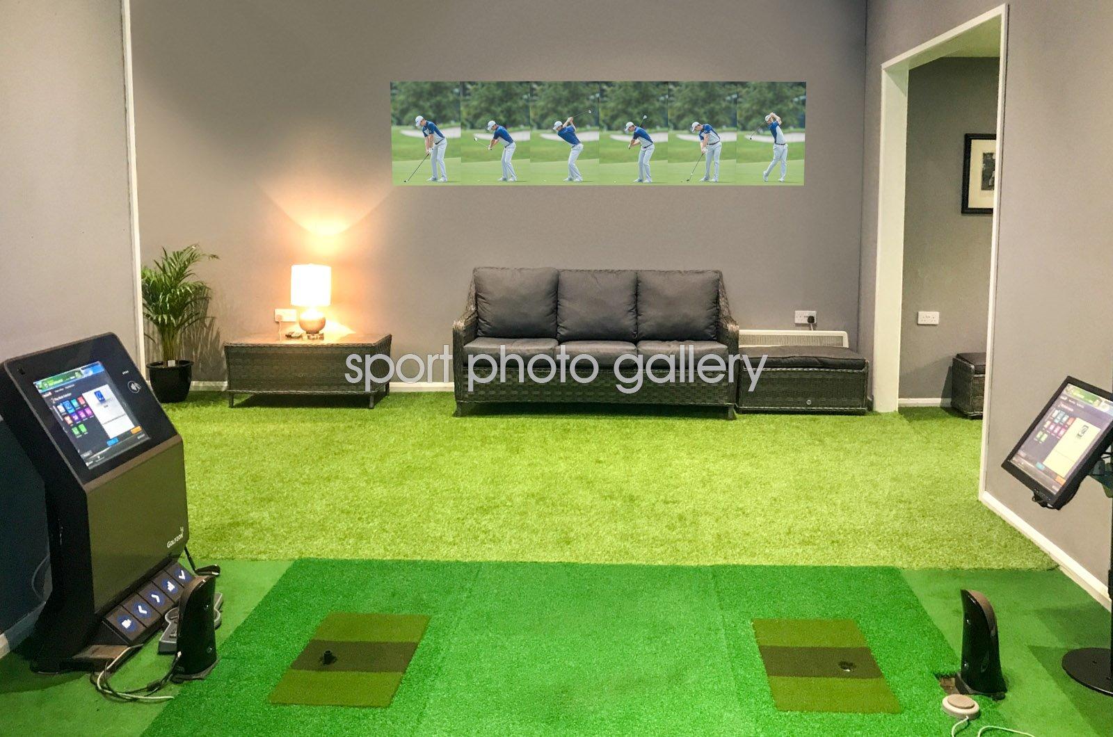 2015 Justin Rose Six Stage Swing Sequence Wall Sticker