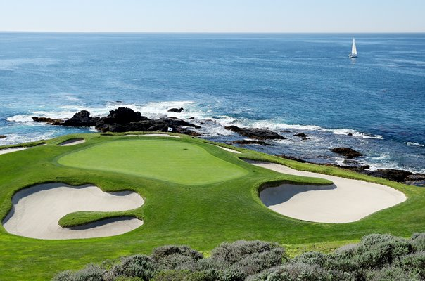 7th Hole Par 3 Pebble Beach Golf Links California USA