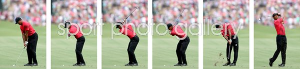 Tiger Woods 2018 Front View Swing Sequence
