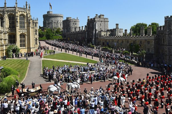 Royal Wedding procession Windsor Castle 2018