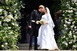 Prince Harry kisses new wife Meghan Markle Windsor 2018 Canvas