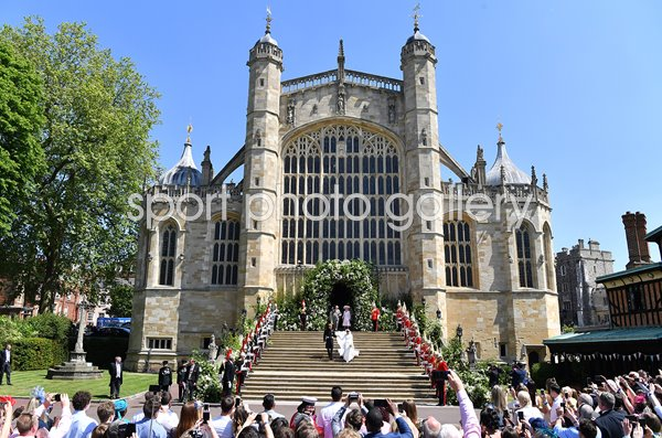 Prince Harry Marries Ms. Meghan Markle St Georges's Chapel Windsor 2018