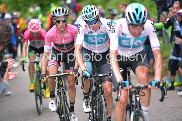 Chris Froome Simon Yates Wout Poels Stage 14 Giro 2018