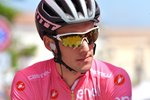 Simon Yates Race Leader Pink Jersey Stage 9 Giro 2018 Canvas