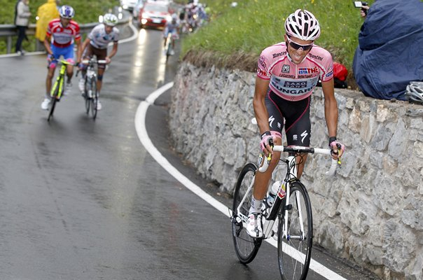 Alberto Contador Pink Jersey Race Leader Stage 15 Giro 2011