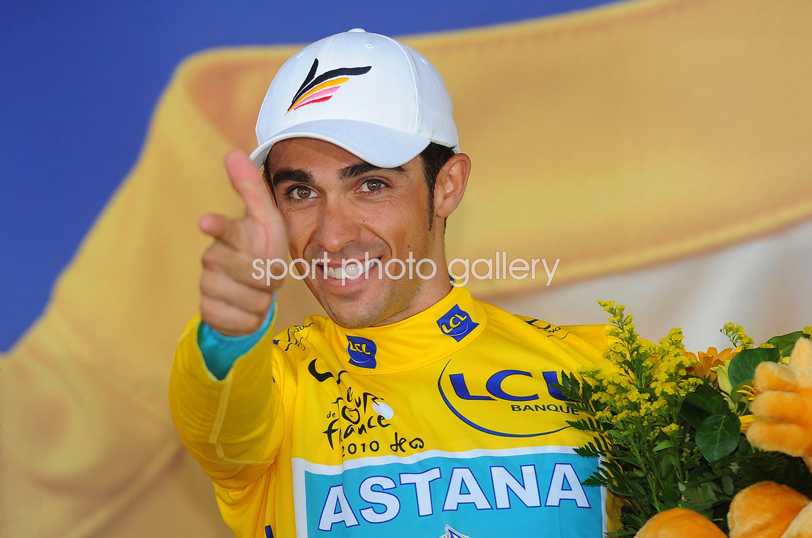 Alberto Contador Yellow Jersey Tour de France Stage 18 2010