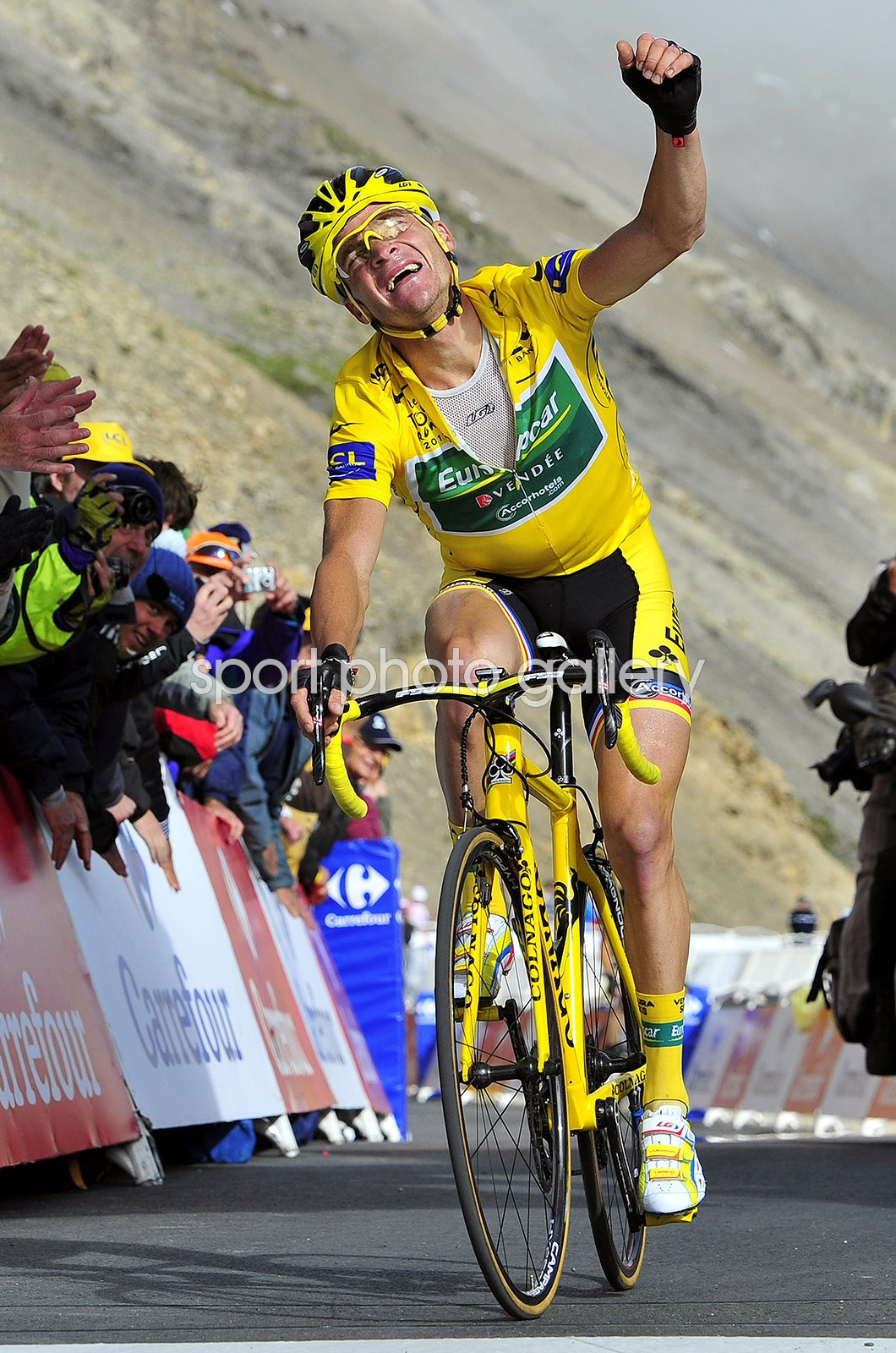 Thomas Voeckler Yellow Jersey Tour de France Stage 18 2011