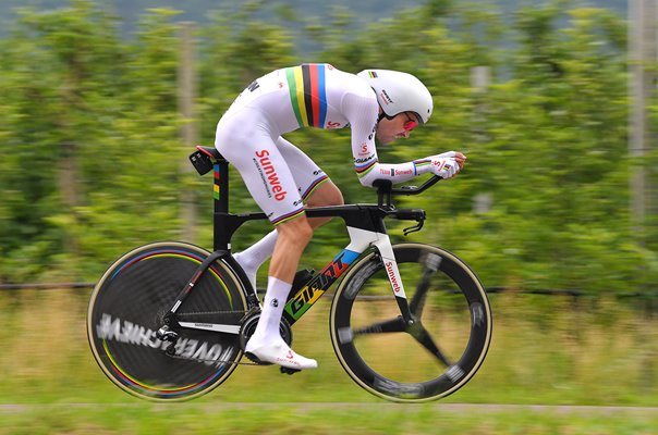 Tom Dumoulin Netherlands Time Trial Stage 16 Giro 2018