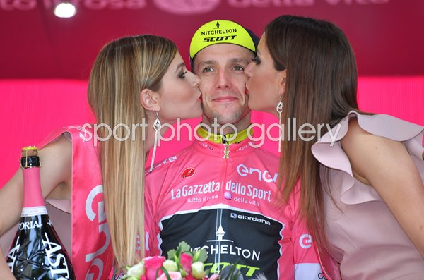 Simon Yates Pink Jersey Stage 16 Tour of Italy 2018
