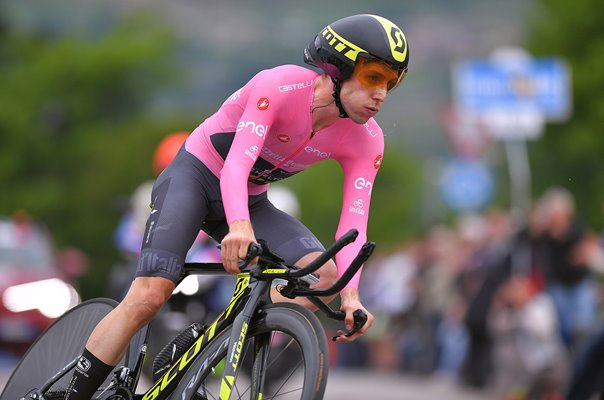 Simon Yates Great Britain Time Trial Stage 16 Tour of Italy 2018