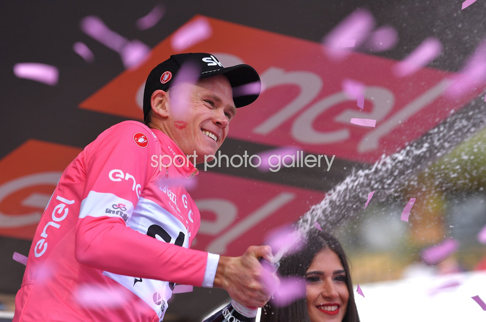 Chris Froome Sky Pink Jersey Giro Stage 19 2018