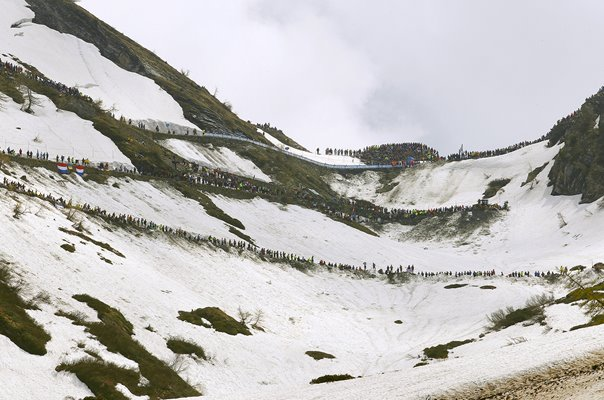Colle Delle Finestre (2178m) Tour of Italy 2018 Stage 19