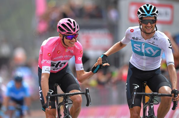 Chris Froome & Wout Poels Team Sky Stage 20 Giro d'Italia 2018