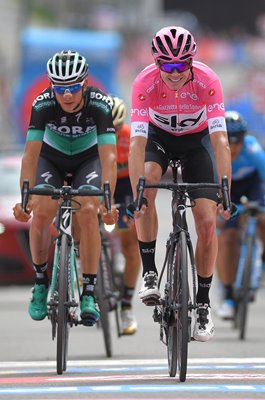 Chris Froome Pink Jersey Stage 20 Giro d'Italia 2018