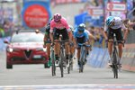 Chris Froome Pink Jersey Stage 20 Finish Giro 2018 Prints