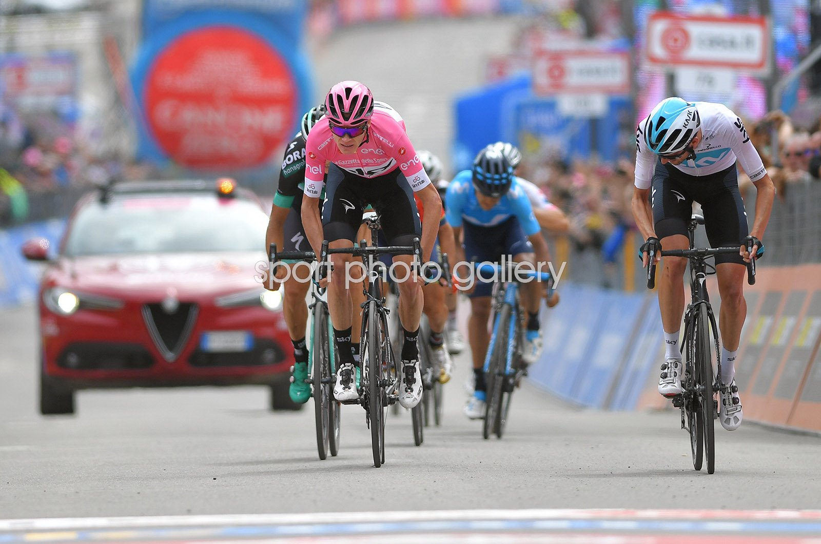 Chris Froome Pink Jersey Stage 20 Finish Giro 2018