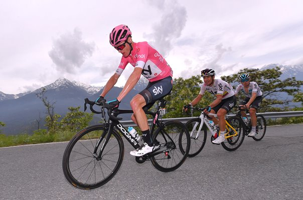 Chris Froome Pink Jersey Race Leader Stage 20 Giro 2018