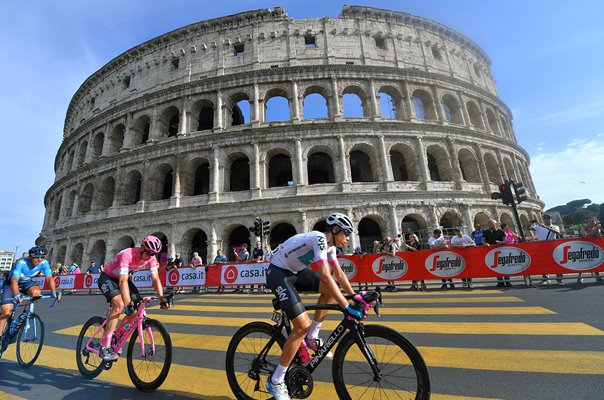 Chris Froome Great Britain Colesseum Rome Giro 2018