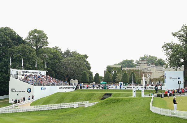 1st Hole BMW PGA Championship West Course Wentworth 2018