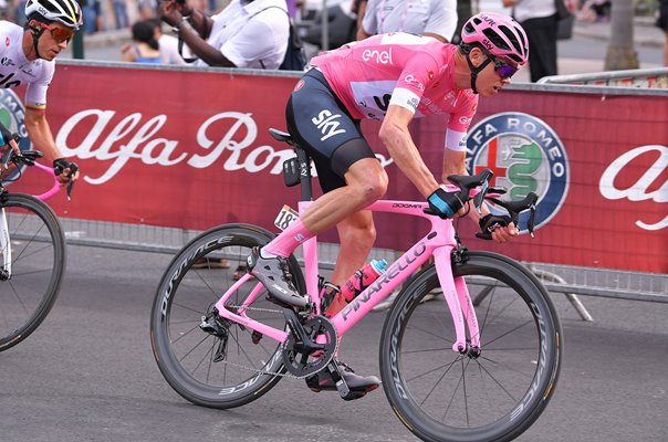 Chris Froome Pink Bike Stage 21 Rome Giro 2018
